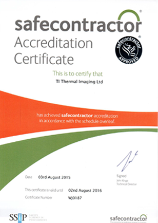 Training Accreditation Ti thermal Imaging Safe Contractor Approved