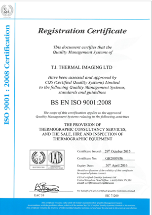 Training Accreditations ISO 9001 2008